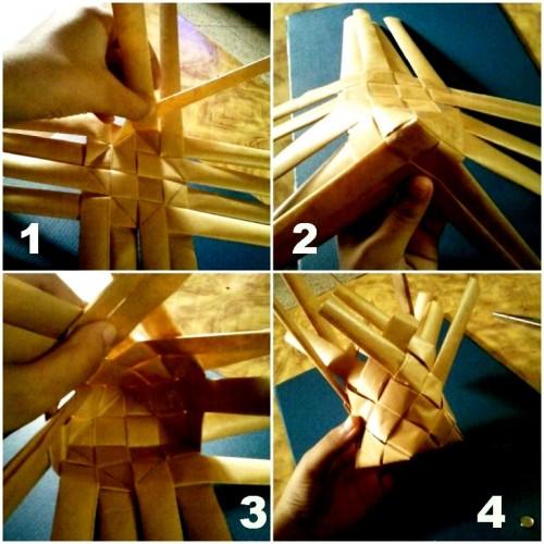 Корзины из бумаги - плетение корзин (17)