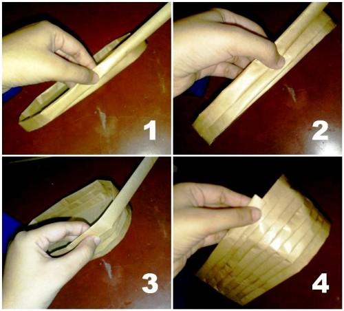 Корзины из бумаги - плетение корзин (22)
