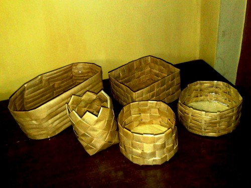 Корзины из бумаги - плетение корзин (24)