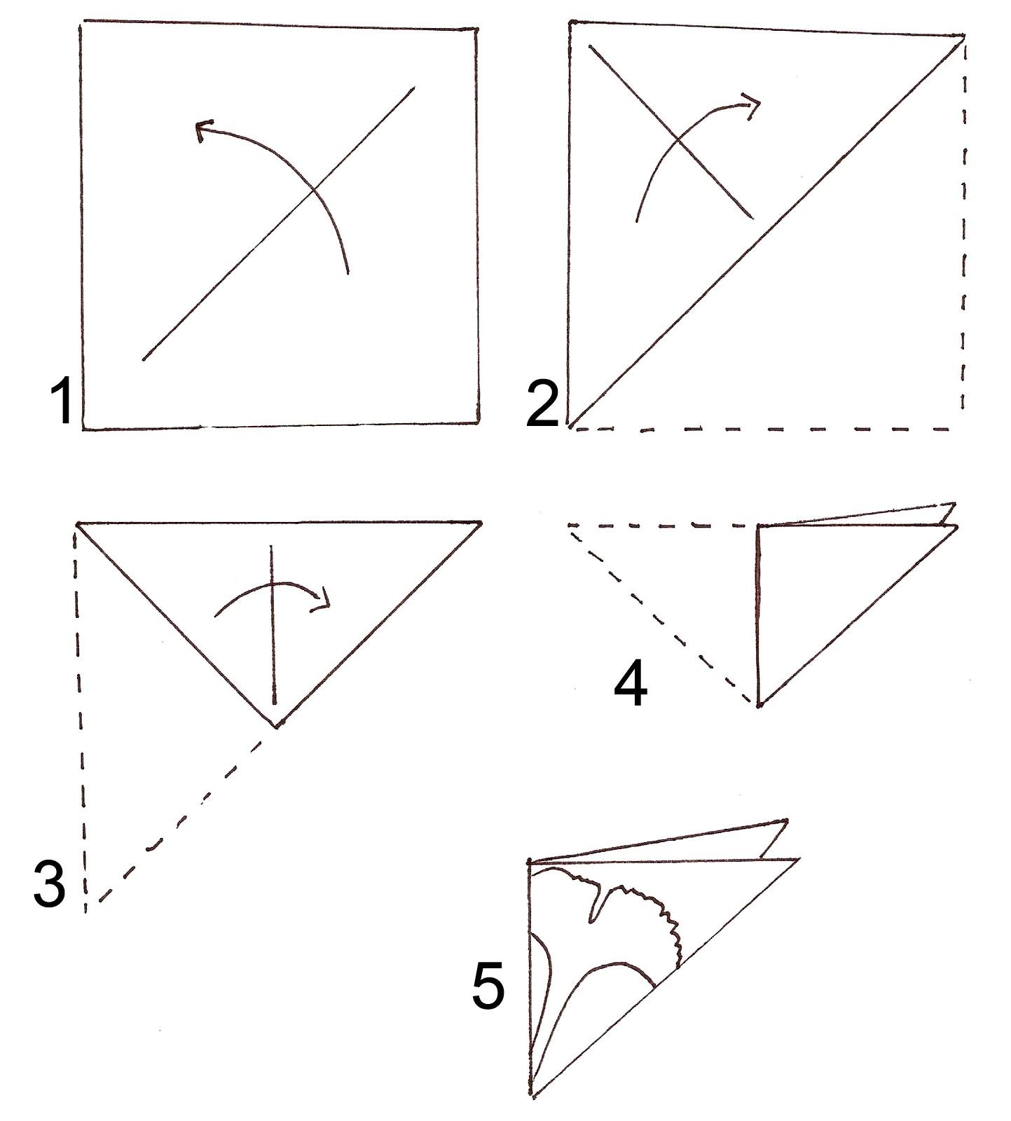 схема для снежинок из бумаги