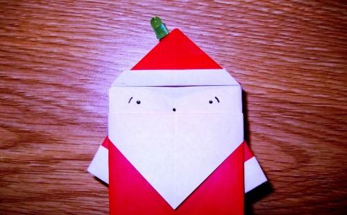 Мастер-класс на Новый Год - оригами Дед Мороз (1)