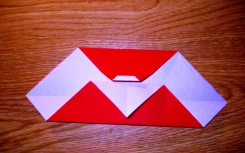 Мастер-класс на Новый Год - оригами Дед Мороз (4)