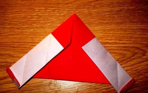 Мастер-класс на Новый Год - оригами Дед Мороз (6)