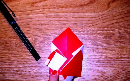 Мастер-класс на Новый Год - оригами Дед Мороз (7)