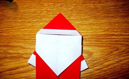 Мастер-класс на Новый Год - оригами Дед Мороз (10)