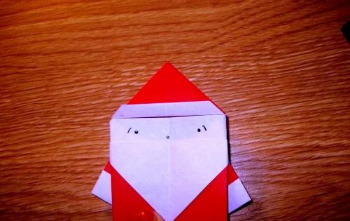 Мастер-класс на Новый Год - оригами Дед Мороз (11)