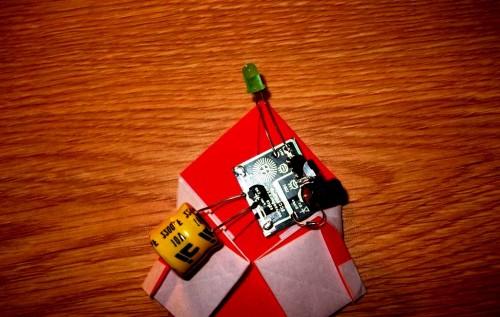 Мастер-класс на Новый Год - оригами Дед Мороз (12)