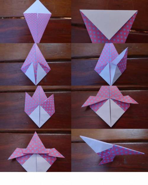 Оригами орел - птицы из бумаги своими руками (3)