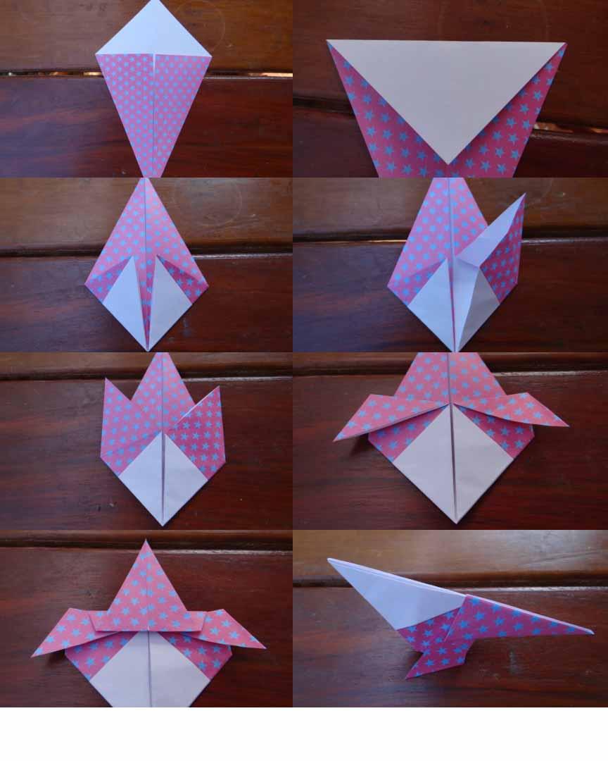 Оригами орел - птицы из бумаги своими руками (3) .