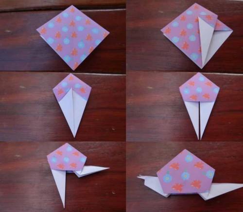 Улитка из бумаги - схема как делать оригами (5)