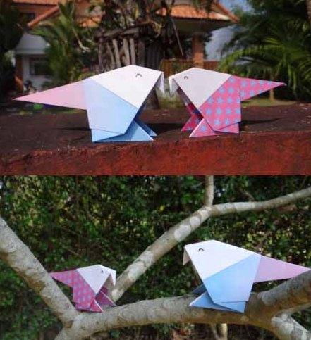 Оригами орел - птицы из бумаги своими руками (4)