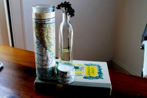 Как - украсить вазу - или сделать - оригинальный подсвечник (1)