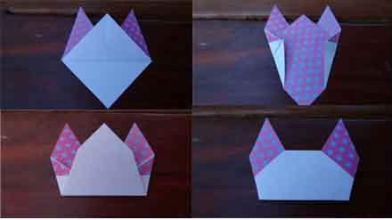 Оригами кошка схема (4)