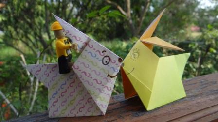 Модульное оригами заяц - схема сборки оригами по