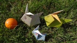 Оригами заяц схема