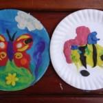 Бабочка из пластилина – поделки из бумажной тарелки