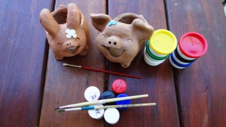 Совместное творчество с ребенком - украшение горшка (1)