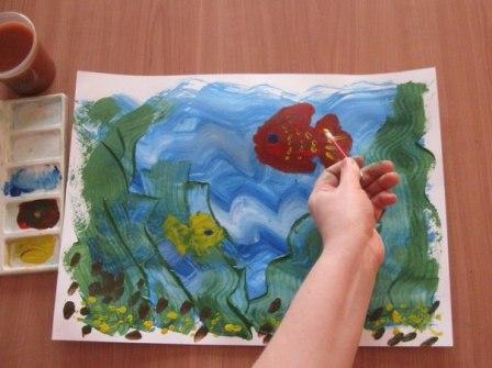 Рисунок Аквариум — как научить детей рисовать (8)