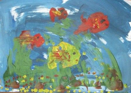 Рисунок Аквариум — как научить детей рисовать (1)