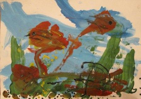 Рисунок Аквариум — как научить детей рисовать (2)