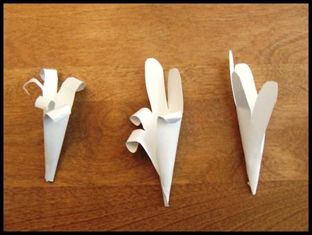 Лилии из бумаги - сделать цветы оригами (5)