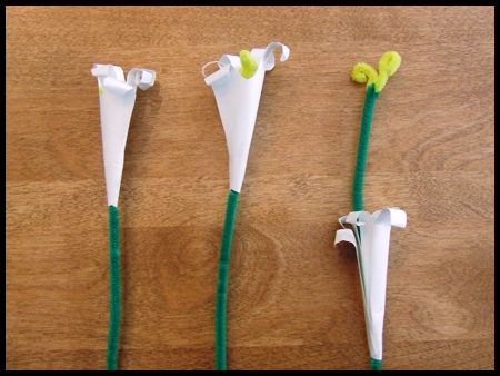 Лилии из бумаги - сделать цветы оригами (7)