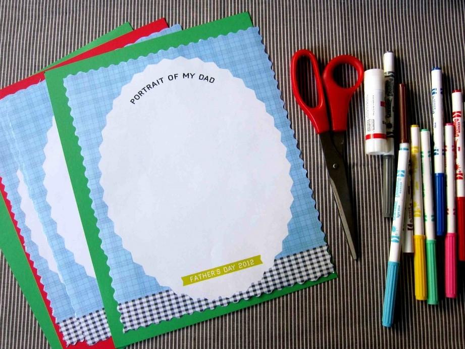 Картон и цветная бумага карандаши или