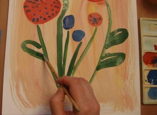 Весенний букет - Как научится рисовать цветы (3)