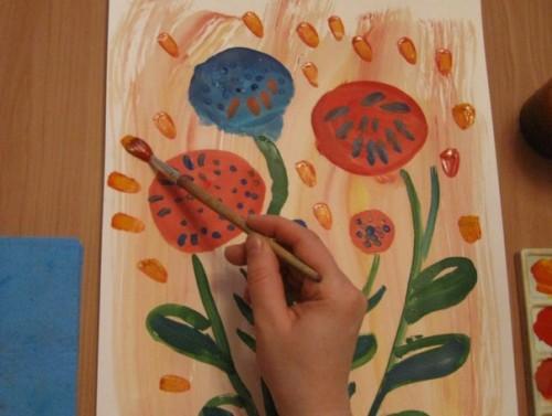 Весенний букет - Как научится рисовать цветы (2)