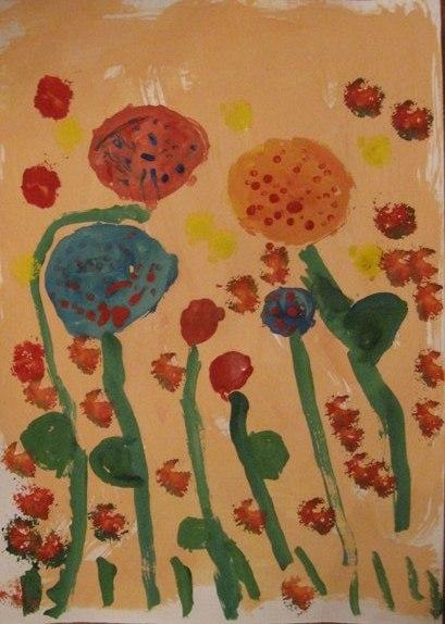 Весенний букет - Как научится рисовать цветы (10)