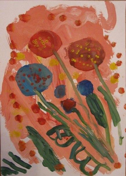 Весенний букет - Как научится рисовать цветы (9)