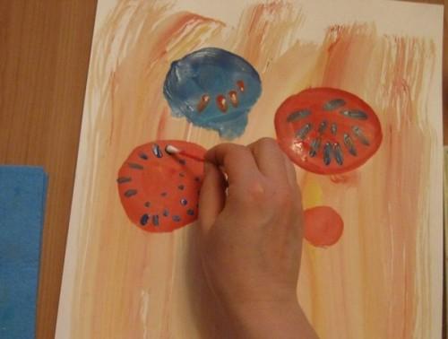 Весенний букет - Как научится рисовать цветы (8)