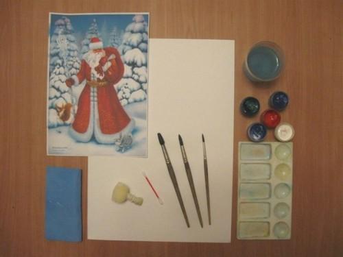 Как нарисовать Деда Мороза - Новогодние рисунки детей от 4 до 6 лет (9)