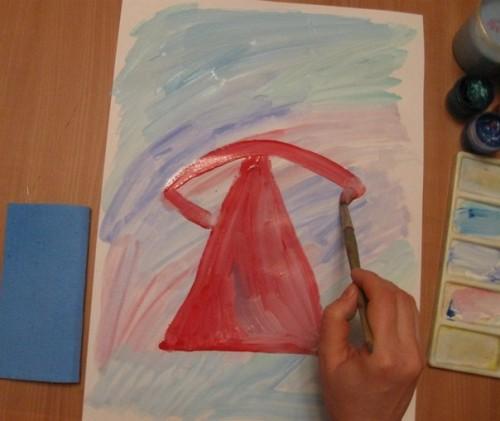 Как нарисовать Деда Мороза - Новогодние рисунки детей от 4 до 6 лет (6)