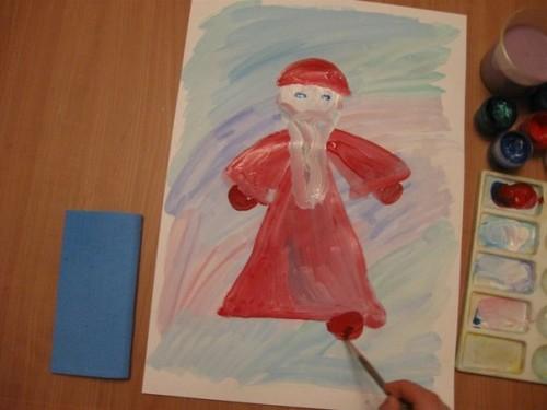 Как нарисовать Деда Мороза - Новогодние рисунки детей от 4 до 6 лет (4)