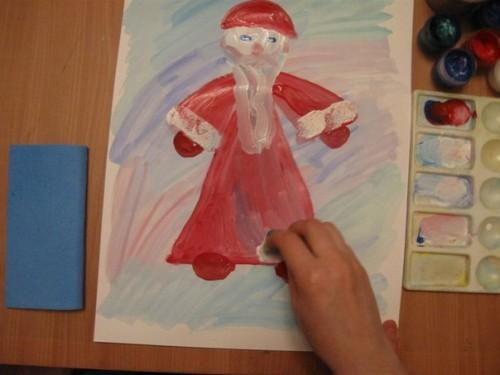 Как нарисовать Деда Мороза - Новогодние рисунки детей от 4 до 6 лет (3)