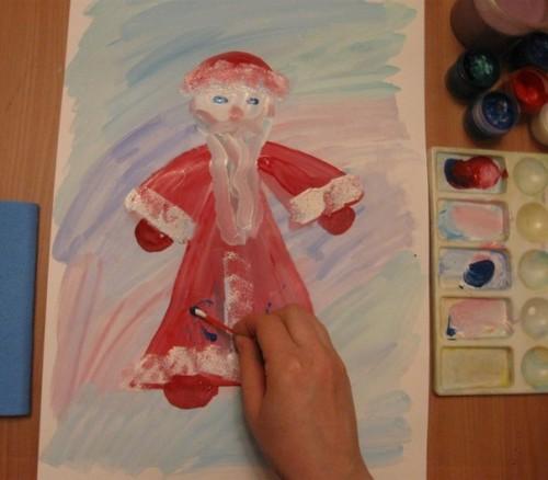 Как нарисовать Деда Мороза - Новогодние рисунки детей от 4 до 6 лет (2)
