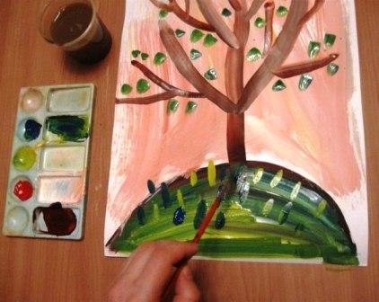 Рисование от 4 до 7 лет дерево растет