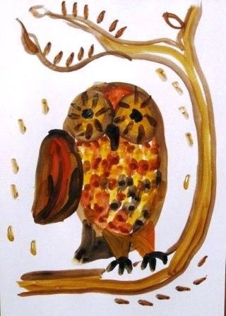 Как нарисовать сову уроки рисования