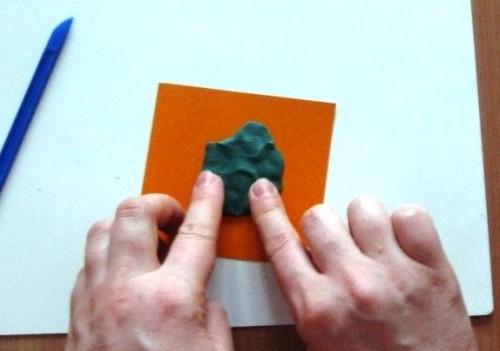 Лепка для детей 5-6 лет - Поляна с грибами (8)