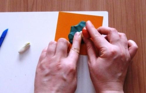 Лепка для детей 5-6 лет - Поляна с грибами (4)