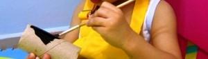 Поделка пингвин - рисунок из отпечатка ноги (10)