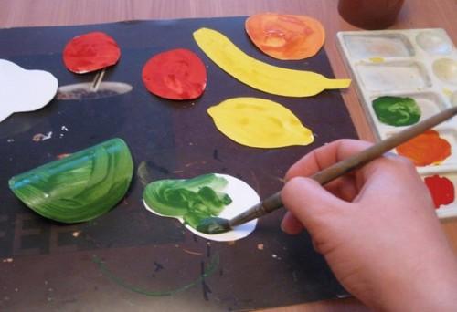 Тарелка с фруктами - Рисование от 3 до 5 лет (8)