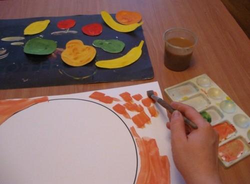 Тарелка с фруктами - Рисование от 3 до 5 лет (7)