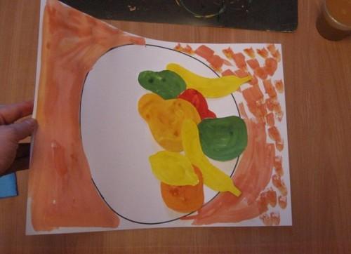 Тарелка с фруктами - Рисование от 3 до 5 лет (6)