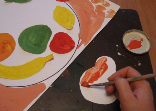 Тарелка с фруктами - Рисование от 3 до 5 лет (5)