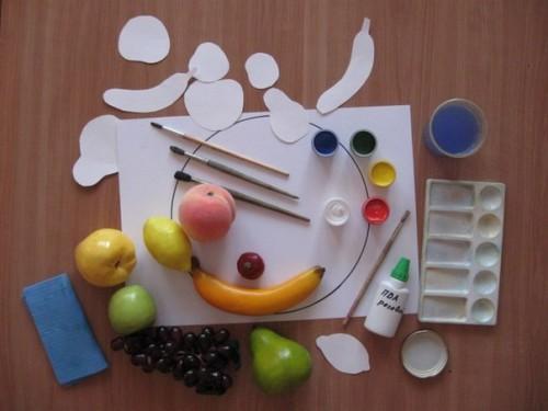 Тарелка с фруктами - Рисование от 3 до 5 лет (9)