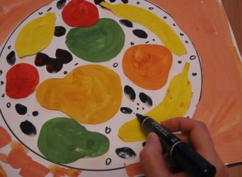 Тарелка с фруктами - Рисование от 3 до 5 лет (3)