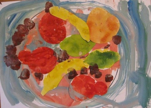 Тарелка с фруктами - Рисование от 3 до 5 лет (2)