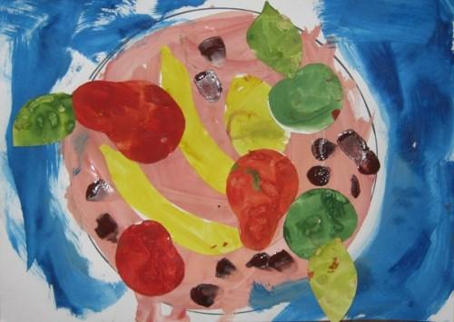 Тарелка с фруктами - Рисование от 3 до 5 лет (1)